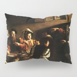 The Calling Of St Matthew Depiction By Caravaggio Pillow Sham
