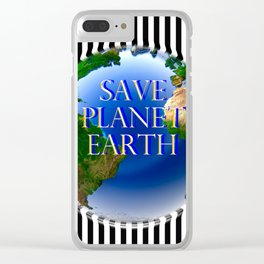 Save Planet Earth Clear iPhone Case