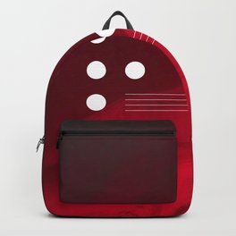 Red Abstract Passion Backpack