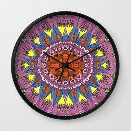 Goat eyes mandala Wall Clock