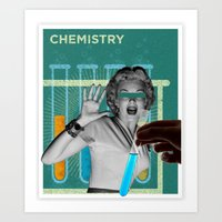 chemistry Art Prints featuring chemistry by Spinnerweb