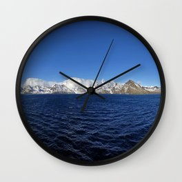 Antarctic Mountain Range Wall Clock