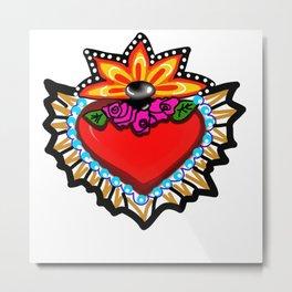 Heart Milagro Metal Print