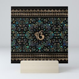 Ek Onkar / Ik Onkar Gemstone and gold Mini Art Print