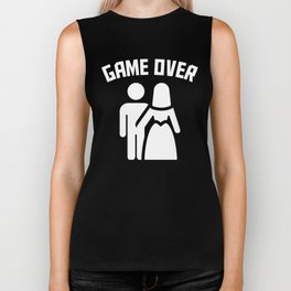 Game Over Funny Bachelor Party Biker Tank