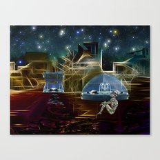 Do aliens get lonely as the lights begin to fade? Canvas Print