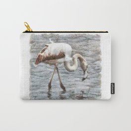 Knee Deep Flamingo Watercolor Carry-All Pouch