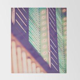 Turquoise Neon Throw Blanket