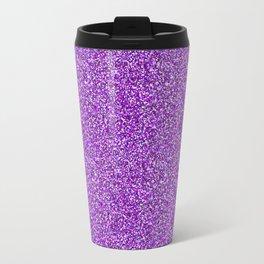 Purple Moondust Glitter Pattern Travel Mug