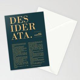 Desiderata by Max Ehrmann - Typography Print 16 Stationery Cards