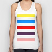 madoka Tank Tops featuring Madoka Colors by Subtle Tee