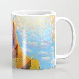 Story Book Fairy-Tale Castle Amid the Mountains landscape by Mikalojus Konstantinas Čiurlionis Coffee Mug