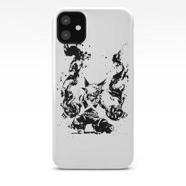 Bakugo Katsuki Ink Splatter iPhone Case