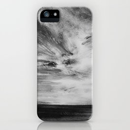 Hawaiian Ocean in Black and White iPhone Case