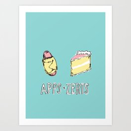 Apps & Zerts Art Print
