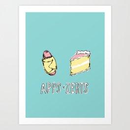 Apps & Zerts Art Print