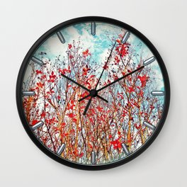 I Scratch the Sky Wall Clock