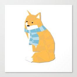 Cozy Fox Canvas Print