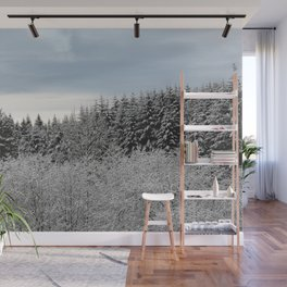 Winter Wanderlust Woods V - Snow Capped Forest Nature Photography Wall Mural