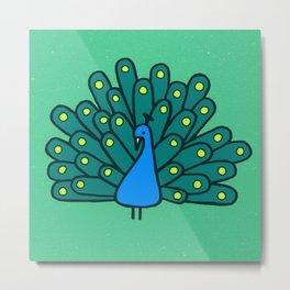 Peacock Print Metal Print
