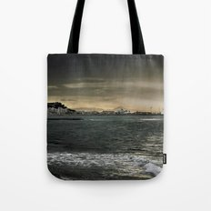 Storm in the sea Tote Bag