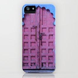 Pink Door In The Blue City, Jodhpur iPhone Case