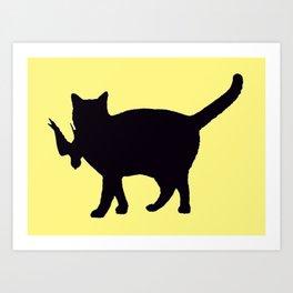 Cat Catch Art Print