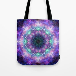 Trippy Purple Deep Space Mandala Tote Bag