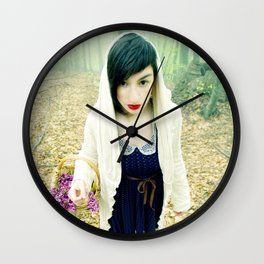 the little red riding hood Wall Clock