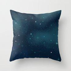 Pixel Marine Starlight Galaxy Throw Pillow