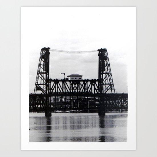 Portland Steel Bridge  Art Print