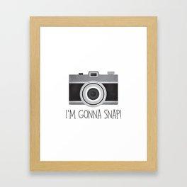 I'm Gonna Snap! Framed Art Print