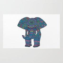 colored elephant Rug