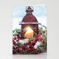 merry christmas Stationery Cards featuring Merry Christmas by UtArt