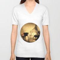 lab V-neck T-shirts featuring the lab by XfantasyArt
