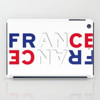 france iPad Cases featuring France by Vintage Deco Print Posters