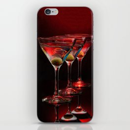 Red hot martinis. iPhone Skin