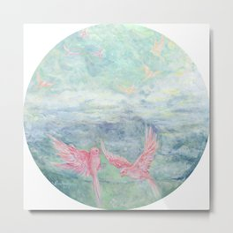 In the Pyrenees, arylic birds Metal Print