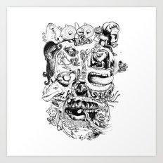 Skull - Inktober 2013 Art Print