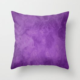 Spiritual Purple - Spiritual Soul- Delicate marble texture Throw Pillow