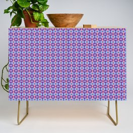 Pink, Purple, and Blue Low Poly Pattern Credenza