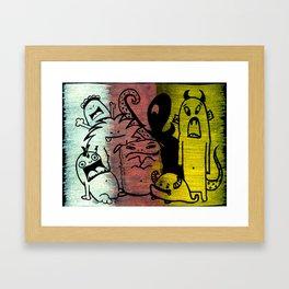 Transparent Monsters 01 Framed Art Print