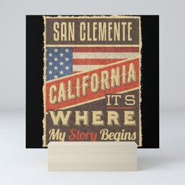 San Clemente California Mini Art Print