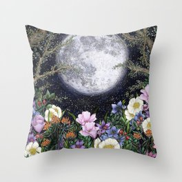 Midnight in the Garden II Throw Pillow