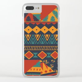 Tribal Abstract Wallpaper Clear iPhone Case