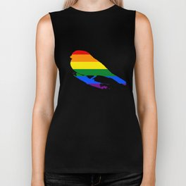 Rainbow Finch Biker Tank