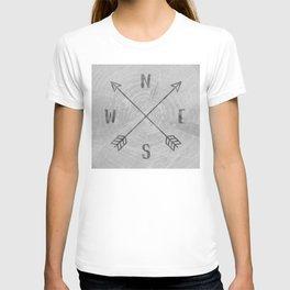 Compass Black and White Tree T-shirt