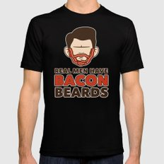 Bacon Beard (men's version) MEDIUM Black Mens Fitted Tee