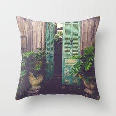 Saint Augustine Garden Throw Pillow