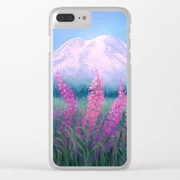 Fireweed Phenomenon on Mount Rainier Clear iPhone Case